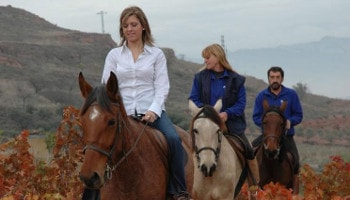 Best Rioja Wine Tours - Horse Ride visiting vineyard and wineries